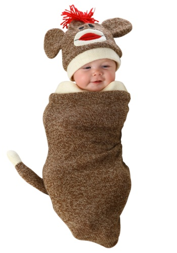 Saco de dormir para recién nacido de mono calcetín