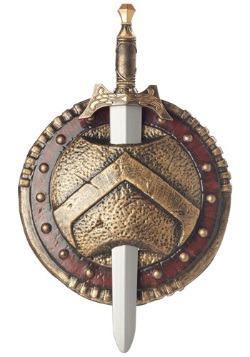 Escudo espartano y espada