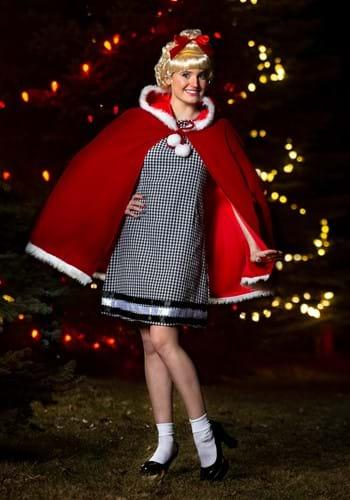 Disfraz de niña de Navidad para mujer