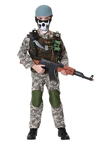 Disfraz de soldado con camuflaje