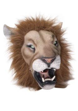 Máscara de látex de león de lujo