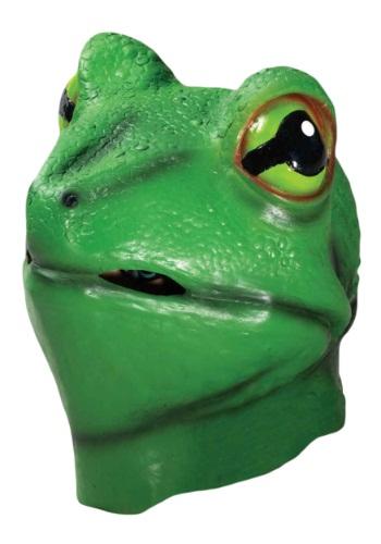 Máscara de rana de látex de lujo