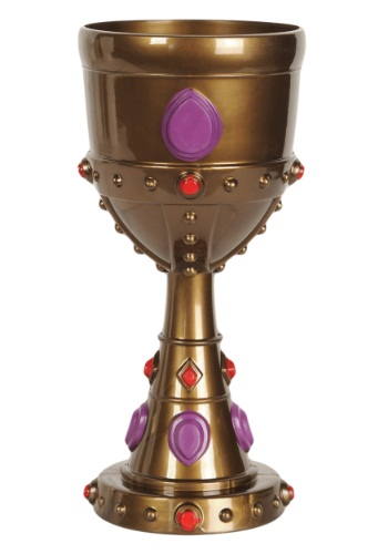 Copa de plástico de rey con joyas