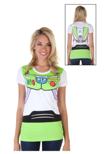 Camiseta de mujer Toy Story Buzz Lightyear Costume Front