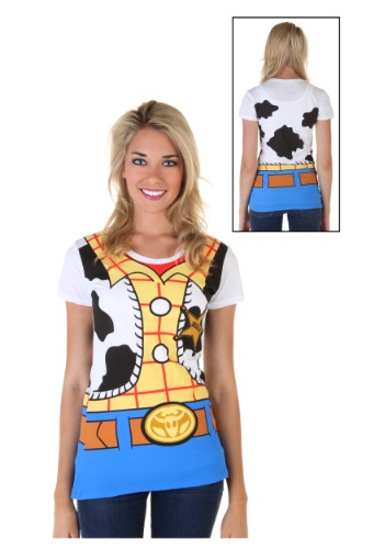 Camiseta de mujer Toy Story I Am Woody Costume Front