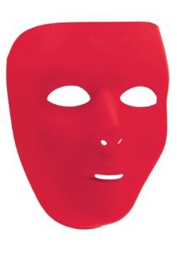 Máscara facial completa roja