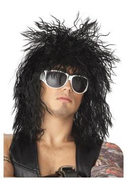 Peluca negra de tipo rockero