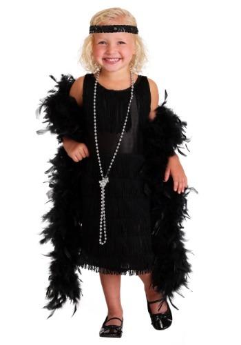 Vestido estilo flapper negro para bebé