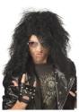 Peluca negra de heavy metal