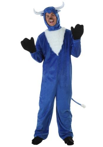 Disfraz de buey azul para adulto