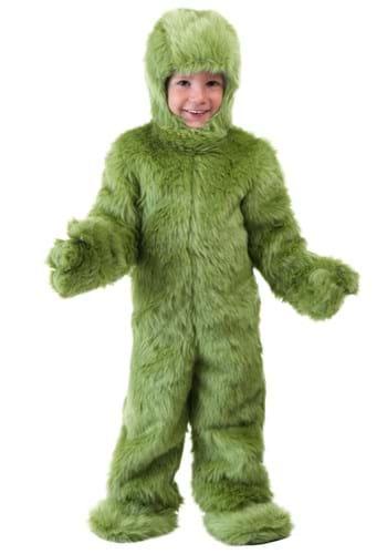 Mameluco verde peludo para niños pequeños