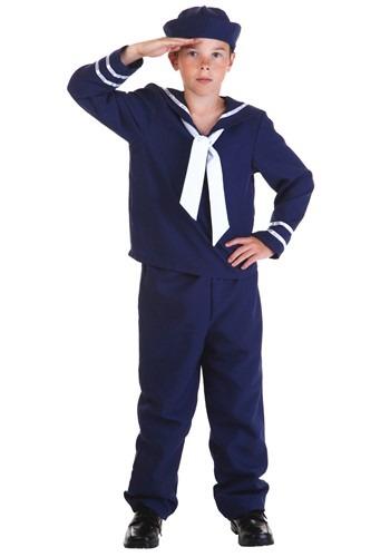 Disfraz infantil de marinero azul