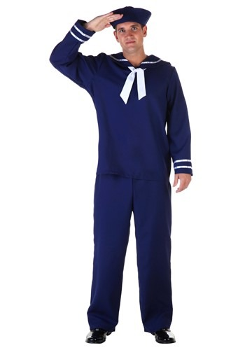 Disfraz de marinero azul talla extra