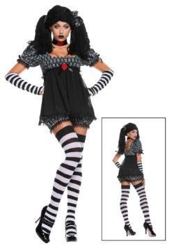 Disfraz exclusivo de muñeca de trapo gótico sexy