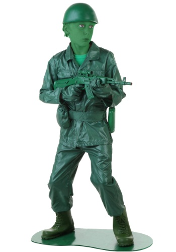 Disfraz de hombre del ejército verde Infantil
