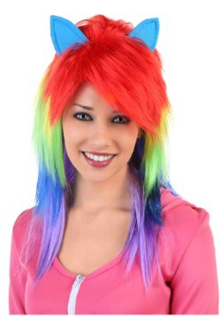 Peluca de Pony arcoíris