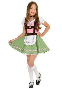 Disfraz de niña de los Alpes suizos