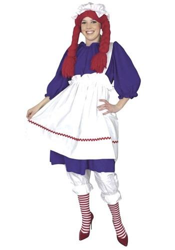Disfraz de muñeca de trapo talla extra