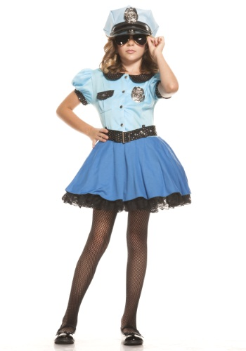 Disfraz de uniforme de policía para niñas