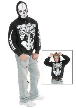 Sudadera con capucha de esqueleto