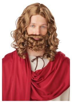 Peluca y barba de Jesús para adulto