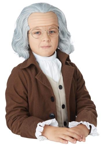 Niño Benjamin Franklin peluca