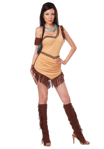Disfraz de belleza nativa americana