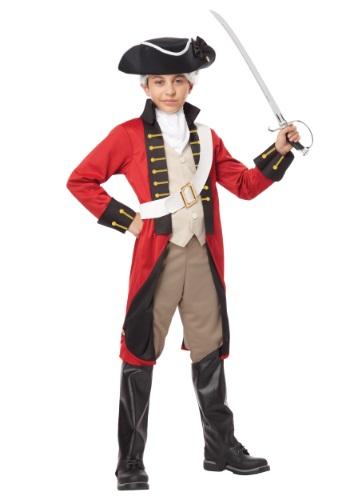 Disfraz de abrigo rojo británico para niño
