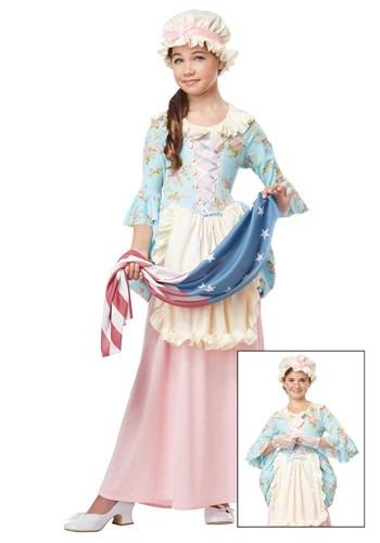Disfraz de mujer colonial para niñas