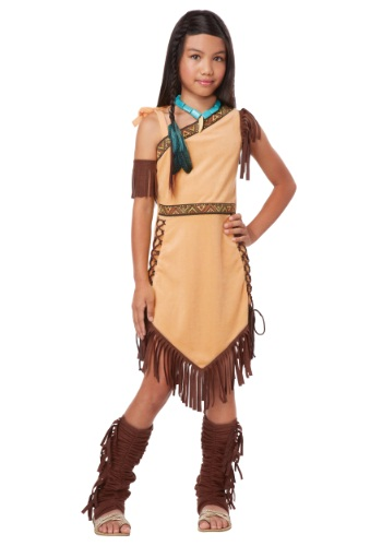 Disfraz de princesa nativa americana