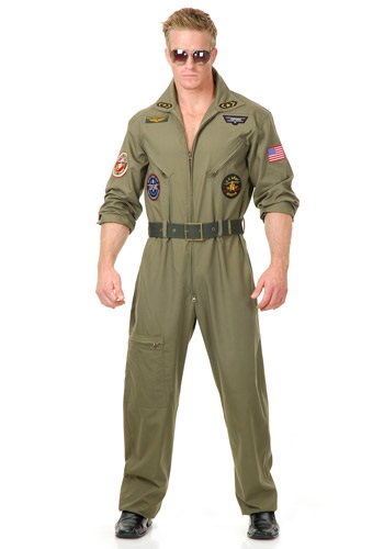 Disfraz piloto de la Fuerza Aérea talla extra