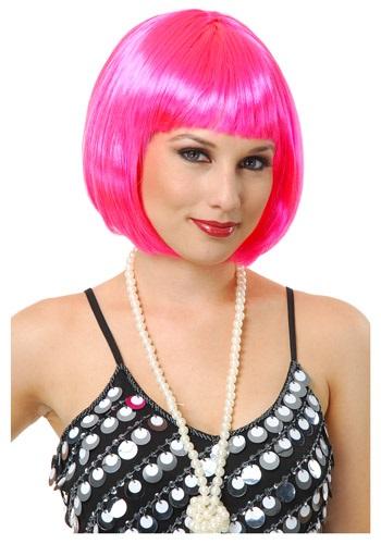 Peluca corta Bob Hot Pink