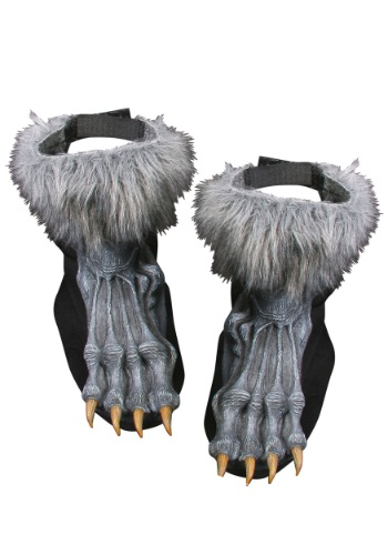 Fundas para zapatos de hombre lobo plateadas