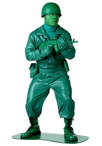 Disfraz verde de hombre del ejército talla extra
