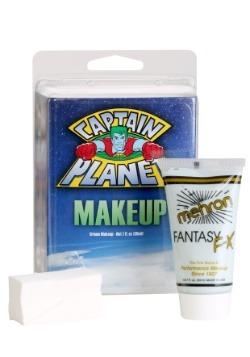 Maquillaje azul del Capitán Planeta