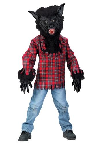 Disfraz infantil de hombre lobo negro