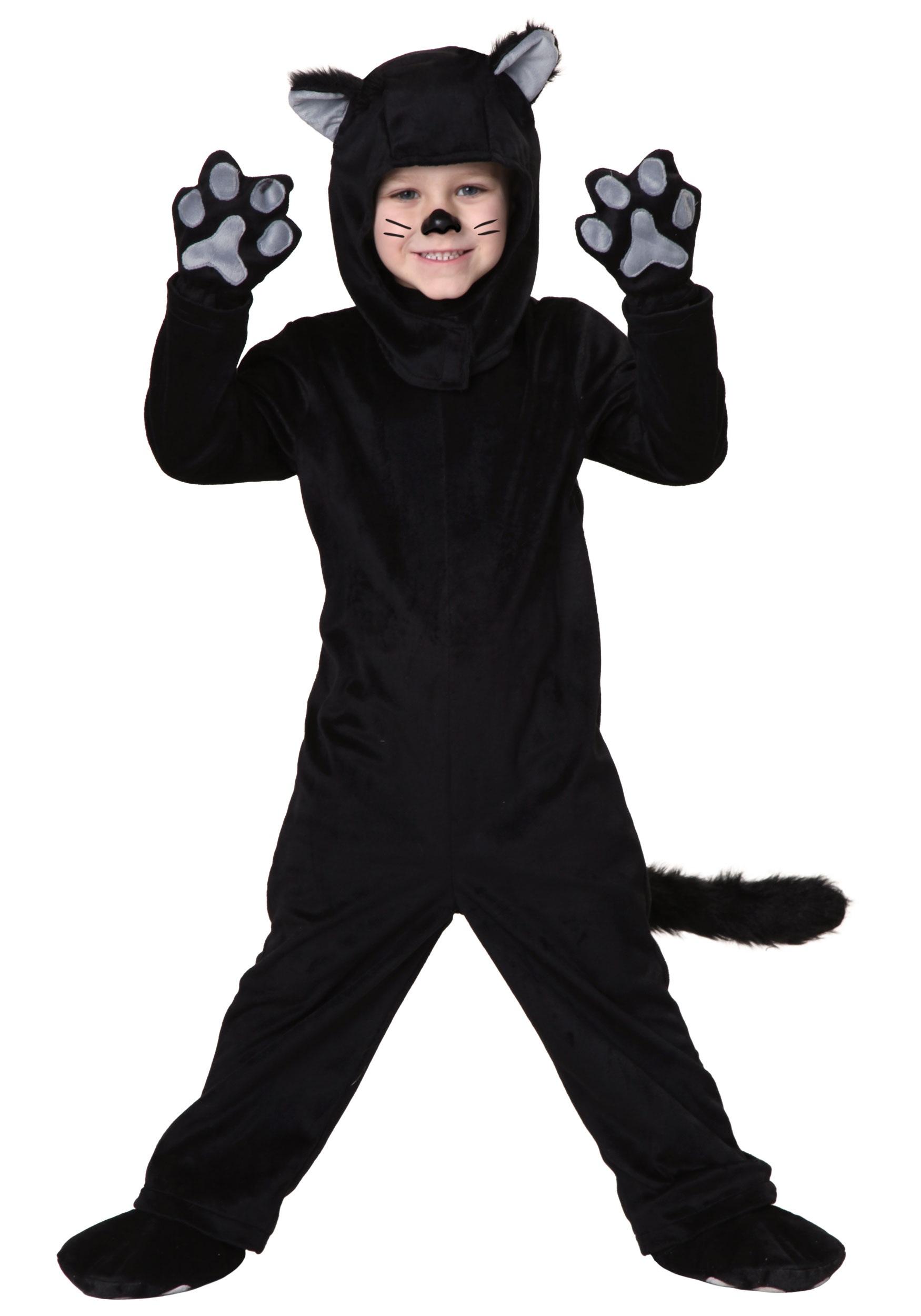 8c16baeb9 Disfraz de gato negro para niños pequeños