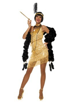 Disfraz de aleta dorada deslumbrante para mujer