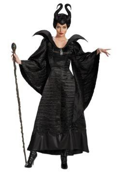 Disfraz de vestido negro de Maléfica deluxe para adulto