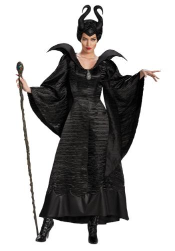 Disfraz vestido de Maléfica deluxe talla extra para adulto