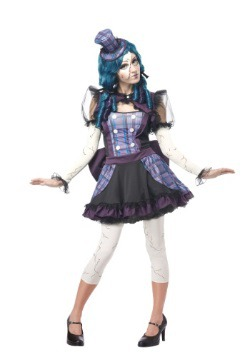 Disfraz de muñeca rota para adulto
