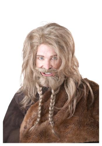 Peluca, barba y bigote de vikingo tono rubio
