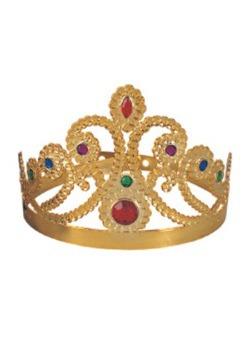 Tiara dorada de Reina