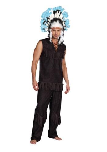 Disfraz de jefe indio de los hombres