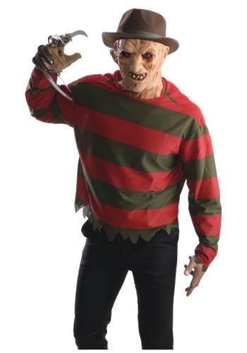 Camisa de Freddy Krueger con máscara para adulto