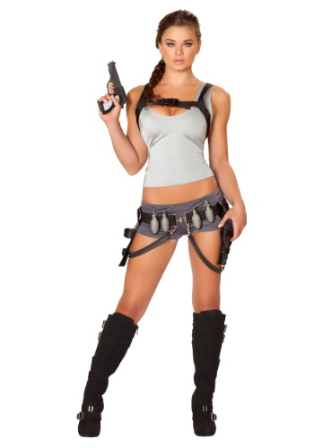Disfraz de cazadora de tesoros para mujer