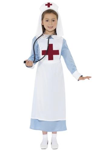 Disfraz de enfermera de la Segunda Guerra Mundial para niñas