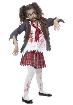 Disfraz de colegiala zombie para niños