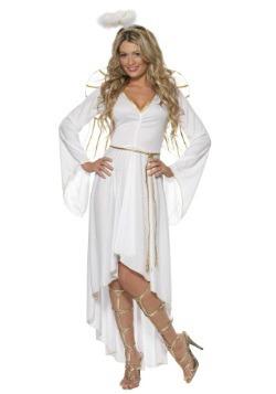 Disfraz de ángel alto-bajo para mujer