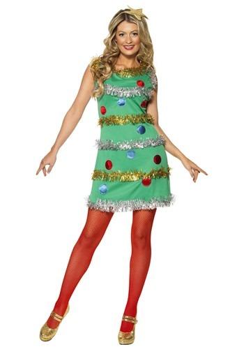 Vestido de árbol de Navidad para mujer